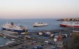 Ραφήνα, Άνδρος, λιμάνια