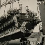 Η μια εκ των κυρίων μηχανών του Prince Laurent έτοιμη για τοποθέτηση