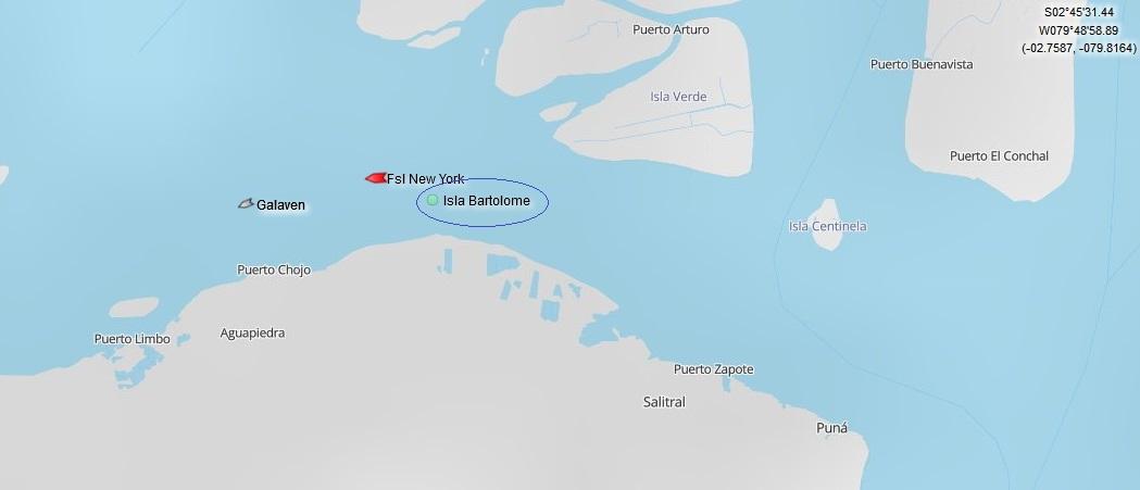 isla bartolome map