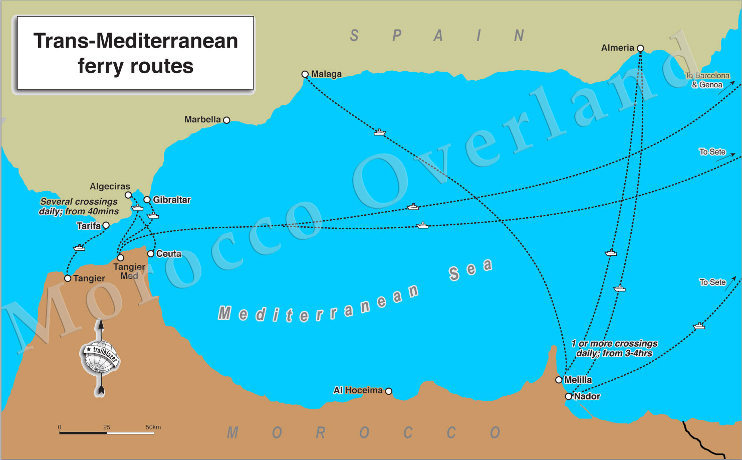 morocco-overland-ferry-routes