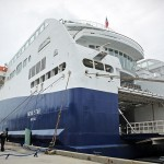 The Nova Star cruise ship sits in port a few hours before its maiden voyage, in Portland Thurs. May 15, 2014. The ferry will carry passengers to Yarmouth, Nova Scotia, and back during the season that begins today and runs until Nov. 2. Amelia Kunhardt/Staff Photographer