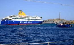 Blue Star Patmos aground2