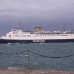 Roi Baudouin vertrekt uit Dover